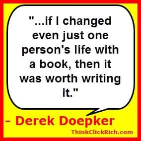Derek Doepker Change Lives Quote