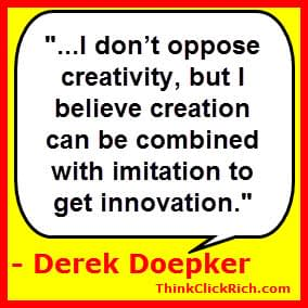 Derek Doepker Creativity & Innovation Quote