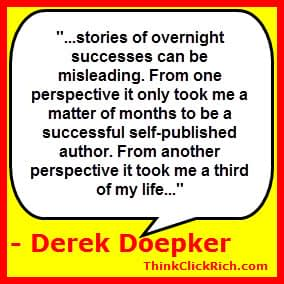 Derek Doepker Overnight Success Quote