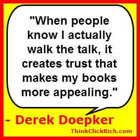 Derek Doepker Walk the Talk Quote