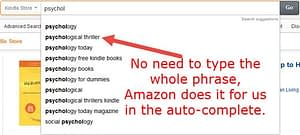 Amazon Kindle Keyword Research Auto-Complete Method
